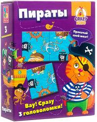 Игра Vladi Toys Головоломки. Пираты