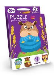 Puzzle пазлы для малышей 4 пазла Danko Toys