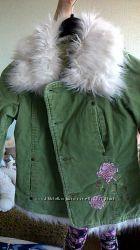 демисезонное утепленное пальто для девочки