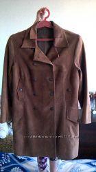 нубуковый классный плащ-пальто