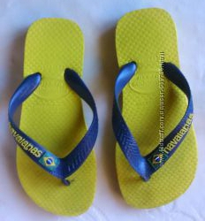 Вьетнамки р. 28 Havaianas Бразилиия желто-синие