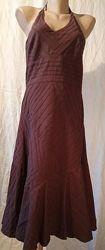 Сарафан р.44 New Look коричневый на подкладке коттон