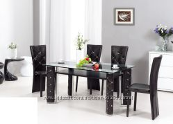 Распродажа Стол обеденный - гарнитур NOIR- стол и стулья набор премиум