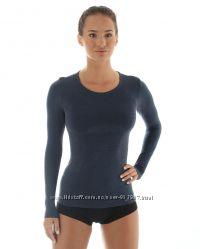 Бесшовная женская термофутболка Brubeck Wool Comfort из шерсти мериноса