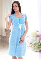 Сорочка женская для кормящих мам 475