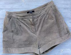 Натуральные замшевые шорты Asos, размер S-M