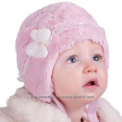 Нарядная зимняя шапочка для девочки PUPILL
