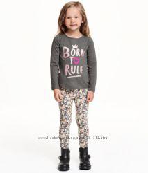 Цветочные трегинсы для девочки H&M