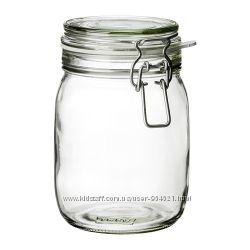 Банка с крышкой, прозрачное стекло Икеа 50213546