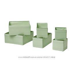 Набор коробок, 6 шт. , светло-зеленый 60299714