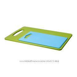 Набор разделочных досок, 2 штуки, зеленый, синий, ИКЕА, 30153124