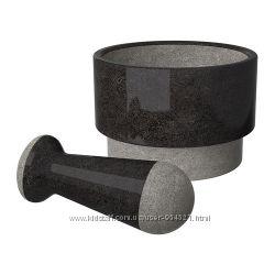 Ступка с пестиком, черный мрамор ИКЕА