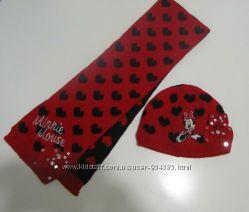 Шапка и шарф Дисней Минни Disney Minnie 2-4 г