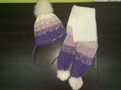 Зимняя шапка и шарф 1, 5-2 года
