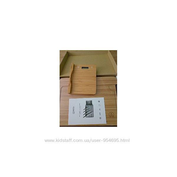 Button бамбуковая разделочная доска с магнитом для ножей и весами, размер x