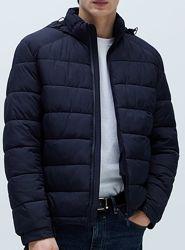 ZARA непромокаемая стеганая куртка размеры M, S большемерит на M