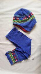 Утепленный комплект шапка и шарф для мальчика H&M, 2-6 лет