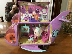 Самолет лител  пет шоп и куклы лител пет шоп