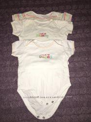 Mothercare 3 бодика на 12-18мес