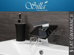 Смеситель в ванную, раковину хром водопад Silla