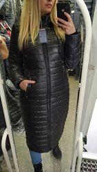 Пальто-пуховик еврозима р 50-60 большие размеры