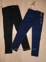 Брючки для девочек черные и синие, 116-152