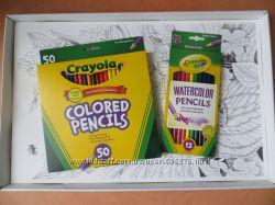 Большой набор раскраски антистресс Crayola Сад