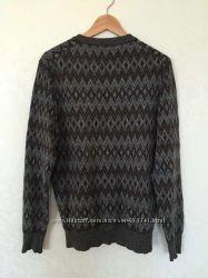 Шерстяной тёплый  свитер Benetton в орнамент
