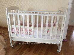 Белая деревянная детская кроватка Верес Соня ЛД1