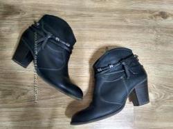 Ботильоны ботинки Tamaris кожаные 39 р обмен