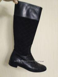 Справжня італійська якість демісезонні чоботи сапоги деми натур. кожа