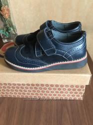 Кожаные полуботинки, туфли для школьников 34р ShagoVita