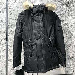 Мужская куртка парка White Route Carson Parka черная, хаки