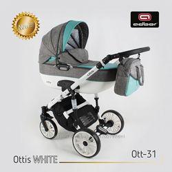 Универсальная коляска 3 в 1 Adbor Ottis WHITE Адбор Оттис Вайт 3в1