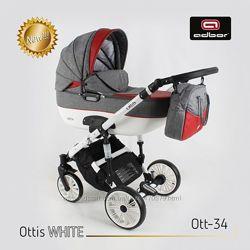 Универсальная коляска 2 в 1 Adbor Ottis WHITE Адбор Оттис Вайт 2в1