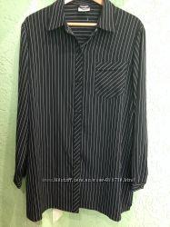 Рубашка черная в белую полоску фирмы lavender hill. евро 4854-58