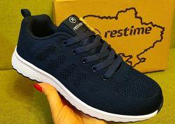 Кроссовки подростковые RESTIME р. 36-40 серые чёрные синие