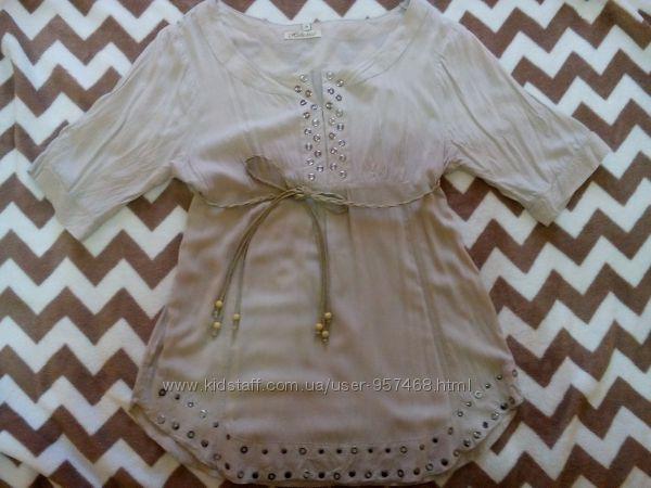 Легкая удобная блузка туника рубашка для будущих мам