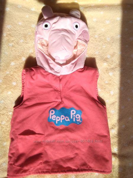 Жилетка Disney Свинка Пеппа флисовая для девочки 1-3 года