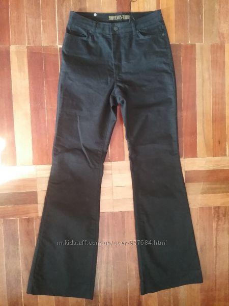 Черные брюки клеш на высокий рост