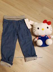 Джинсовые штаны с подкладкой 1, 5-2 года, Baby club