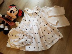 Платье  Next с трусиками и кофтой 12-18 месяцев