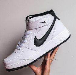 Кроссовки мужские Nike Air Forse высокие белые  72e9900b743c0
