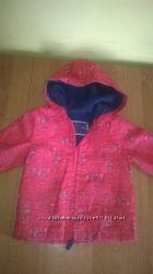 курточка дождевик на флисе для девочки