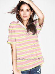 полосатые футболки Victorias Secret с капюшоном