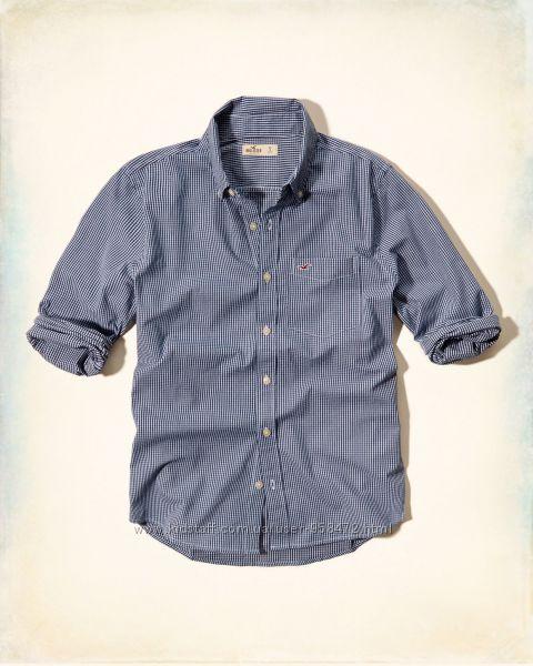 Hollister оригинал классическая рубашка с длинным рукавом
