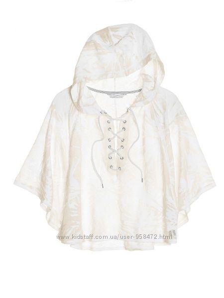 Victorias Secret оригинал белая свободная кофточка-пончо