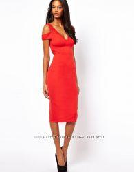 Потрясающее платье-футляр asos с вырезами на плечах