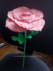 Большая, шикарная роза крючком
