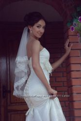 Свадебное платье модель рыбка. Цена снижена